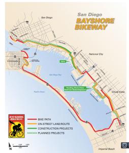 bayshore bikeway map