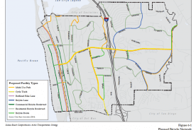 Planned Bicycle Network Solana Beach